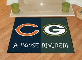 nfl chicago bears green bay packers house divided area rug mat 34