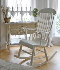 white wooden rocking chair. White Rocking Chair With Wood And Antique Curtains Wooden T