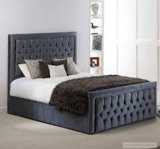upholstered bed frame. Furmanac Hestia Violet Upholstered Bed Frame