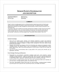 event planning job description resume material planner job description