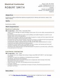 Electrical Estimator Resumes Electrical Contractor Resume Samples Qwikresume