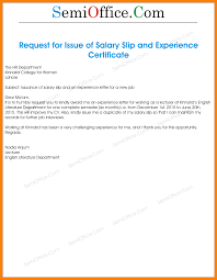 7 Request Letter For Getting Salary Slip Job Resumed