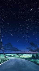 Night sky wallpaper, Sky anime, Night ...