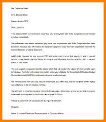 job termination letters 10 job termination letters curriculum word