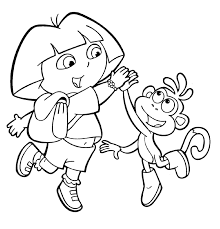 Small Picture Dora The Explorer Coloring Pages Coloring Coloring Pages