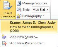 Mla Style In Word Apa Mla Chicago Automatically Format Bibliographies Word