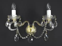 diamant 2 crystal wall sconce