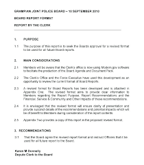 Sample Formal Report Formal Business Report Template Business Report Example