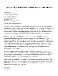 Cover Letter After Interview Information Technology It Cover Letter