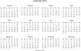 Calendar Blank 2015 Free 2015 Blank Calendar In Landscape Format Pdf 55kb