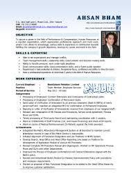 Hr Manager Resume Format Resume Online Builder