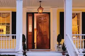 appealing house front door open and exterior back door with window that opens simple exterior doors