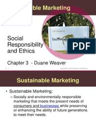 Duane Weaver's Class - MARK 160 Ethics and Sustainability.ppt |  Environmentalism | Marketing