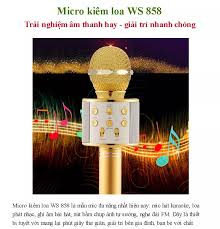 mic hát karaoke kiêm loa bluetooth mic hát karaoke bluetooth mic hát karaoke  bluetooth không dây mic hát karaoke trên điện thoại WS 858