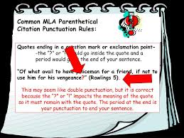 Ppt Parenthetical Mla Citation Of Textual Evidence Powerpoint