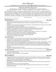 Property Manager Resume Samples regional property manager resume samples Commercial Property 1