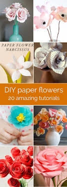 amazing collection of diy paper flower tutorials these look so real perfect for weddings