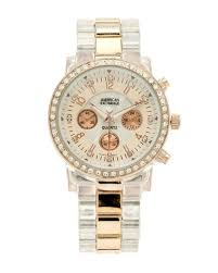 american exchange women rose gold and transparent watch rose american exchange women rose gold and transparent watch
