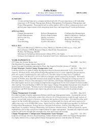 Change Management Resume Berathen Com