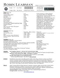 How To Make An Acting Resume For Beginners Actor Resume Template Word Free Acting Examples Ms How To
