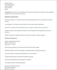 8 Sample Business Development Executive Resumes Sample Templates