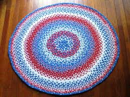 red white and blue rug hand braided rug round red white and blue area by red and blue striped rugby shirt