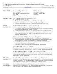 Resume Template Special Education Teacher Job Description Resume