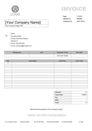 Simple Invoice Sample Impressive Service Invoice Example