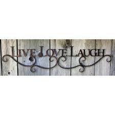 live laugh love metal wall decor lovely winston porter metal scroll live love laugh sign wall