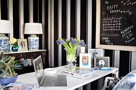 white and black striped wallpaper view full size gorgeous home office black and white home office
