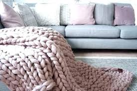 best cosy knit blankets and throws chunky throw blanket blush pink colored