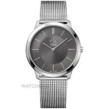 "men s calvin klein minimal watch k3m21124 watch shop comâ""¢ mens calvin klein minimal watch k3m21124"