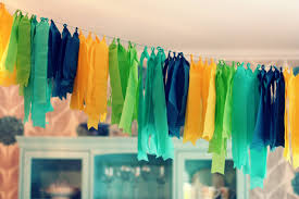 image of decorating with crepe paper streamers ideas
