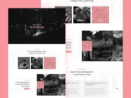 Free Photographer Website Template Free Psd At Freepsd Cc