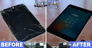 ed ipad screen repair in austin before after