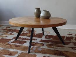 image of danish round coffee table