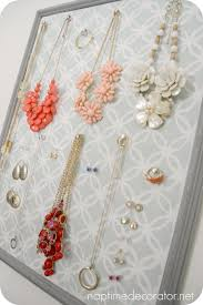 diy jewelry organizer using old picture frame