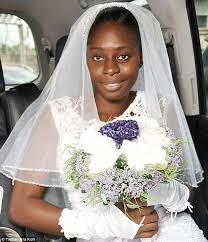 big day bare faced bride bisola umoren pictured from lagos nigeria