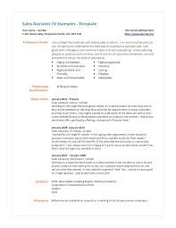 Shop Assistant Sample Resume Resume Sample Of Sales Assistant Danayaus 6