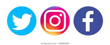 facebook twitter instagram logo. Simple Instagram Valencia Spain  March 08 2017 Collection Of Popular Social Media Logos  Printed To Facebook Twitter Instagram Logo O