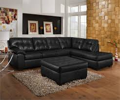 black leather living room ideas