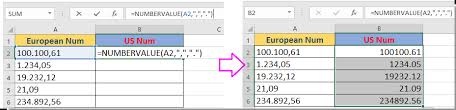 european phone number format how to convert number format between european and us in excel
