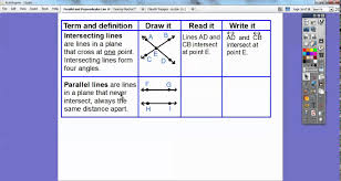 parallel and perpendicular lines lesson 10 3