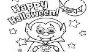Kleurplaten Halloween Vampier