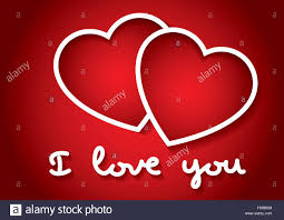 i love you words with two hearts in red valentines day love concept love symbol