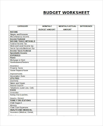 Child Care Budget Template Monthly Budget Worksheet Simple Monthly Budget Template Simple