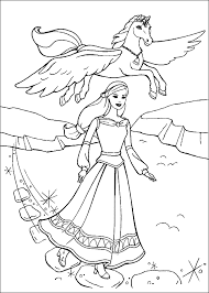 Pegasus Color Page Fantasy And Medieval Coloring Pages For Kids