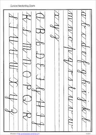 Cursive Letters Chart 30 Printable Handwriting Chart Templates Free Pdf Word