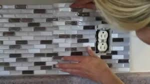 how to cut l and stick smart tiles around an electrical you