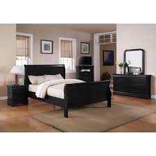 Louis Philip Black 9 Piece Bedroom Group - Price Busters